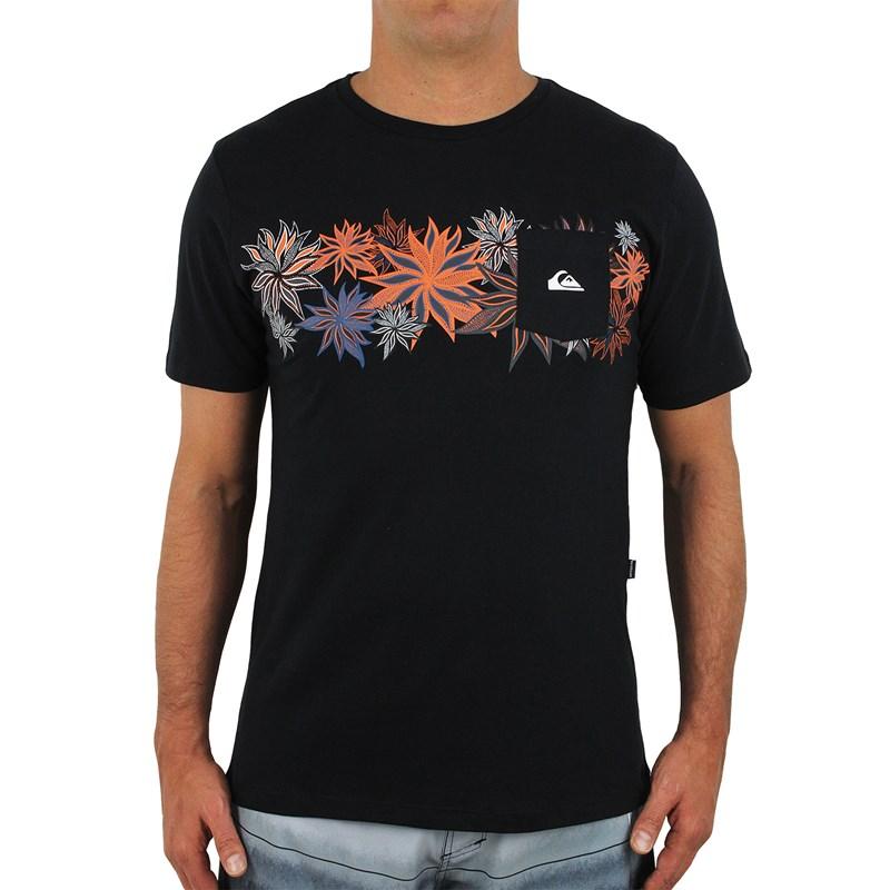 Camiseta Quiksilver Especial Time Line Preta