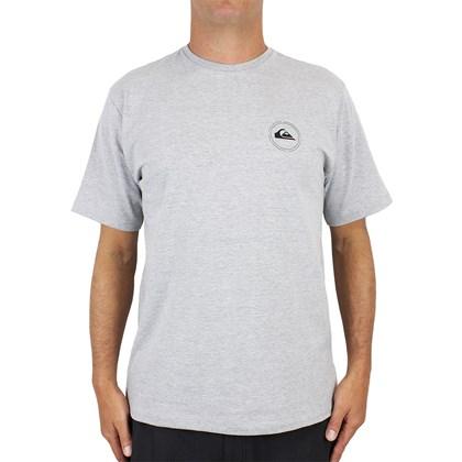 Camiseta Quiksilver Round Surf Cinza Mescla