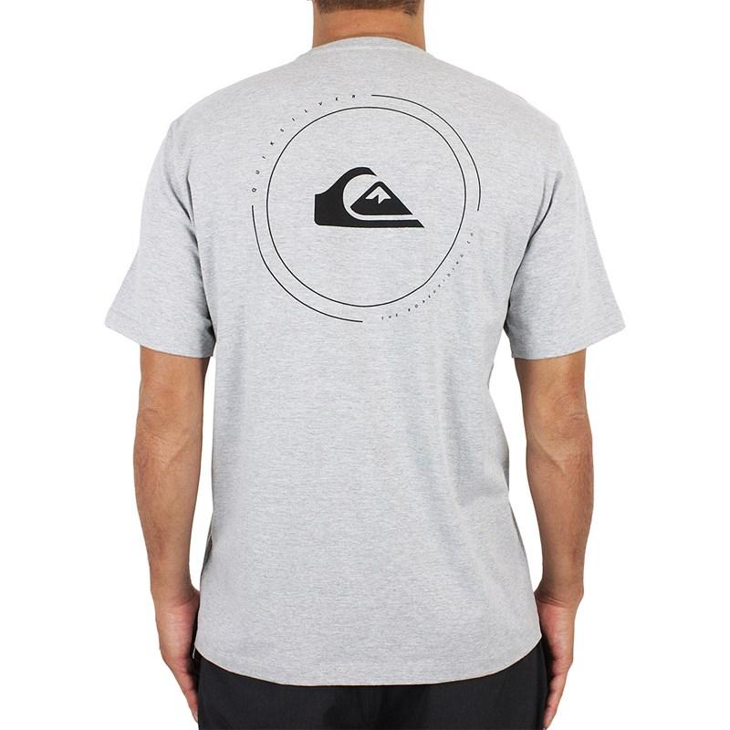 Camiseta Quiksilver Round Surf Cinza Mescla - Surf Alive 87e96a63e6