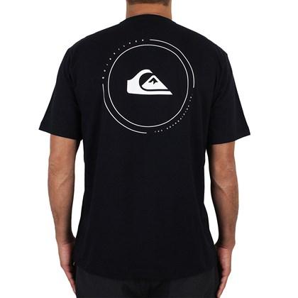 Camiseta Quiksilver Round Surf Preta