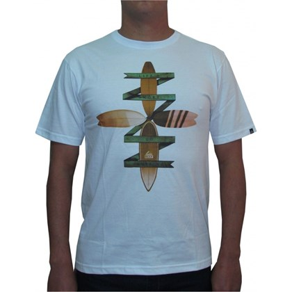 CAMISETA REEF FIT BOARD SLIM FIT BRANCA