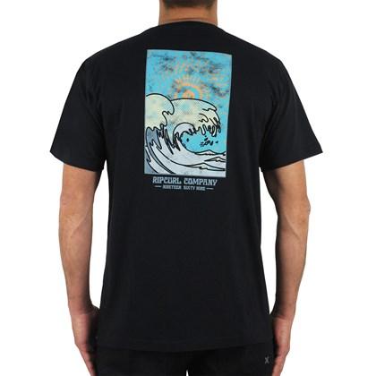 Camiseta Rip Curl Fusion Wave Back Black