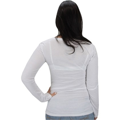 Camiseta Rip Curl Lilly Manga Longa Feminina Branca