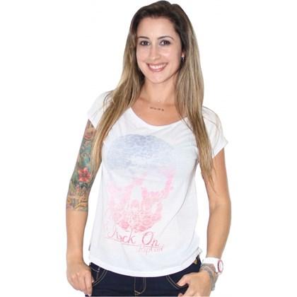 CAMISETA RIP CURL SKULL LOVE FEMININA WHITE