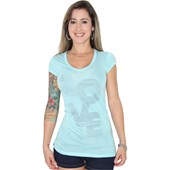 CAMISETA RIP CURL TEES LOVE LONG FEMININA BLUE RADIENCE