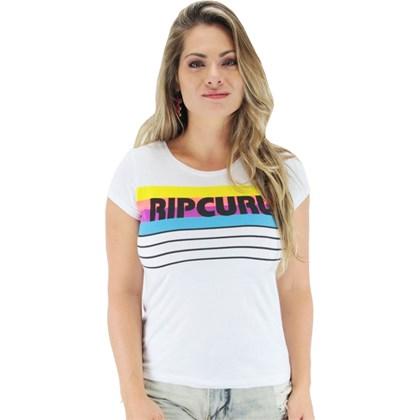 Camiseta Rip Curl Vintage Baseball Feminina Branca