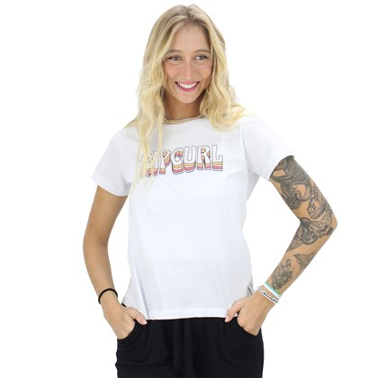 Camiseta Rip Curl Vintage Logo White