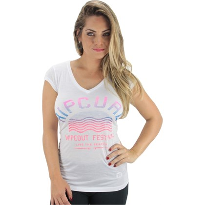 CAMISETA RIP CURL WIPED OUT SURF FEMININA BRANCA