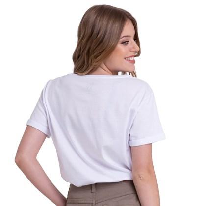 Camiseta Roxy Follow Me To The Beach Branca