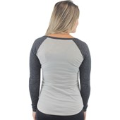 Camiseta Roxy Surf Manga Longa Raglan Dark Midnight