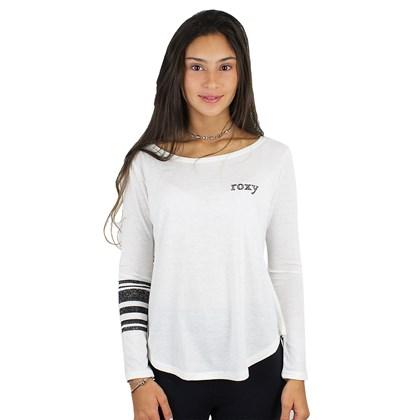 Camiseta Roxy Vintage Surfing Manga Longa Off White