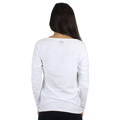 Camiseta Roxy Vintage Tropical Spot Manga Longa Branca