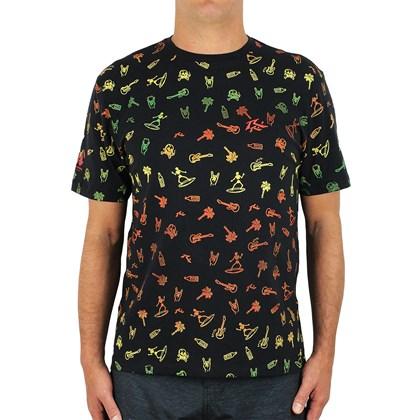 Camiseta Rusty Amphibious Micro Elements Black