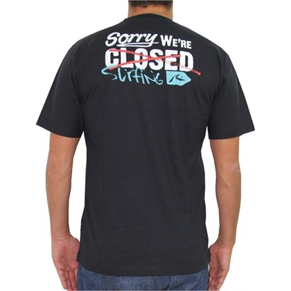 CAMISETA RUSTY OUT TO LUNCH PRETA