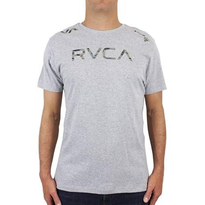 Camiseta RVCA Big RVCA Camo Cinza Mescla