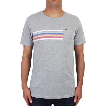 Camiseta RVCA Islands Cinza Mescla