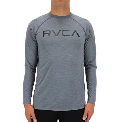 Camiseta RVCA Lycra M/L Micro Mesh Grey Camo