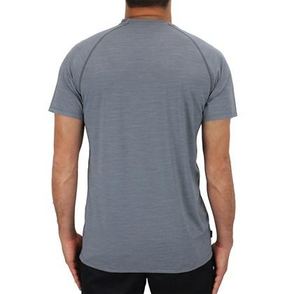 Camiseta RVCA Lycra Manga Curta Cinza
