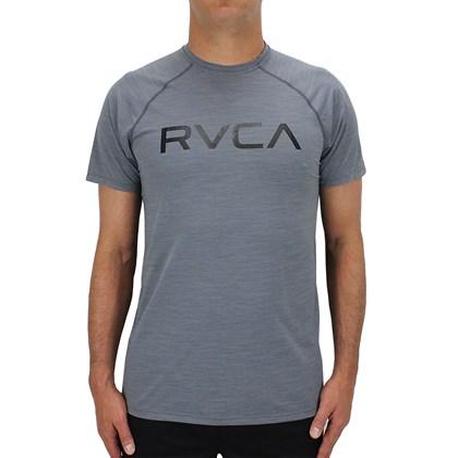 Camiseta RVCA Lycra Manga Curta Cinza ... 4505d4fd0a4