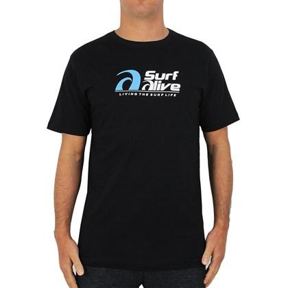 Camiseta Surf Alive Logo Preta