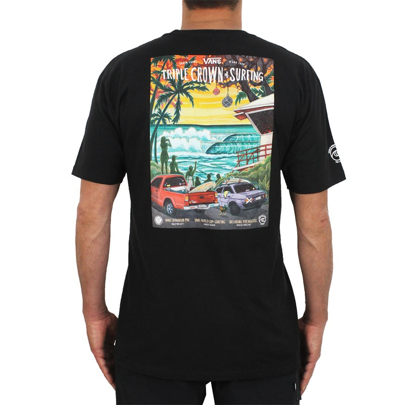 Camiseta Vans 2020 Triple Crown Of Surfing Poster Black