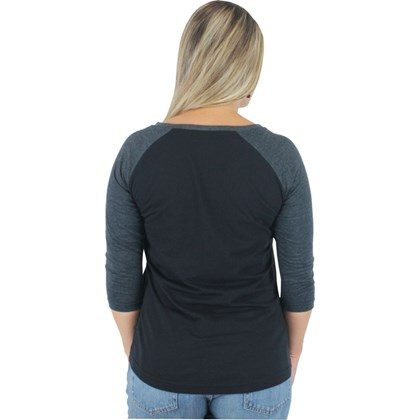 Camiseta Vans Authentic Rock 2 Raglan Feminina Black