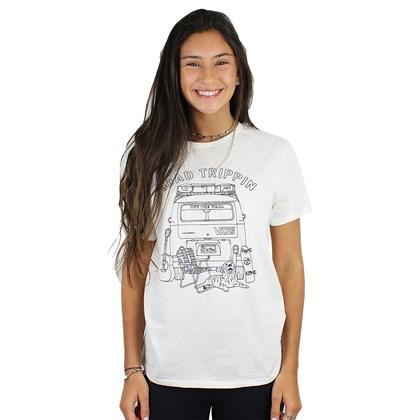 Camiseta Vans Boyfriend Road Burn Feminina Marshmallow