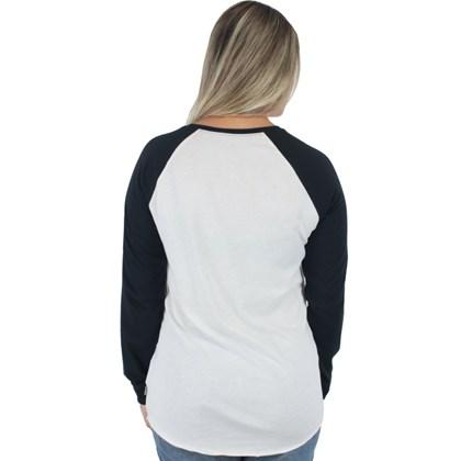 Camiseta Vans Hatterad Raglan Manga Longa White Sand Black