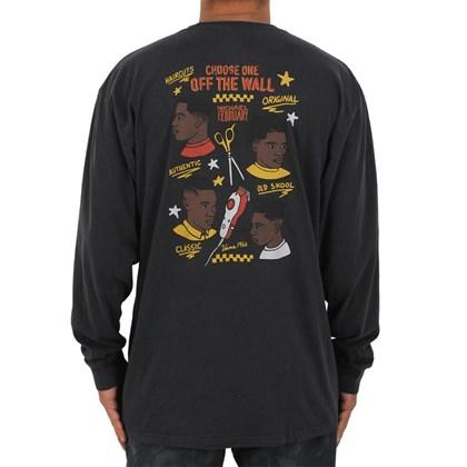 Camiseta Vans Mikey February Overdye Manga Longa Black