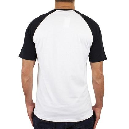 Camiseta Vans Raglan Off The Wall White Black