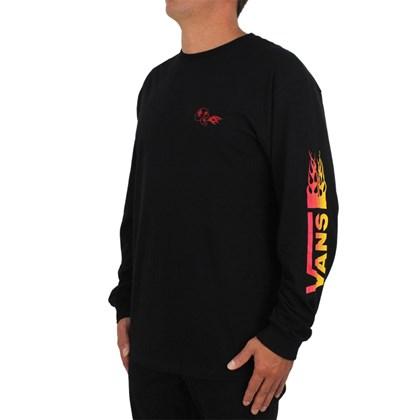 Camiseta Vans X Drag Manga Longa Black