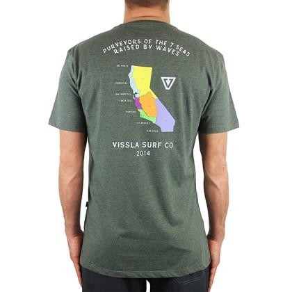 Camiseta Vissla Califas Olive Mescla