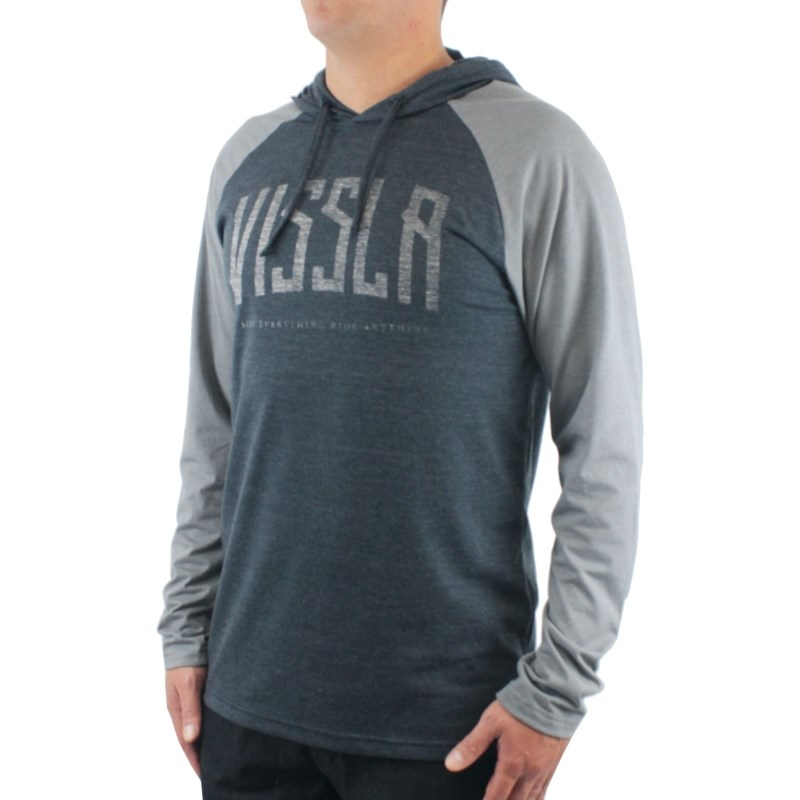 Camiseta Vissla Especial Bend Black Heather Grey