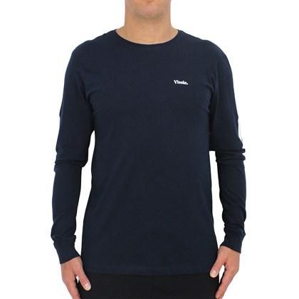 Camiseta Vissla Gadoo Manga Longa Marinho Naval