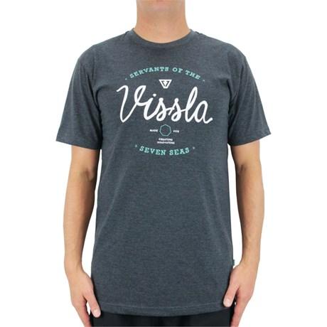 Camiseta Vissla Servants Mescla Preto