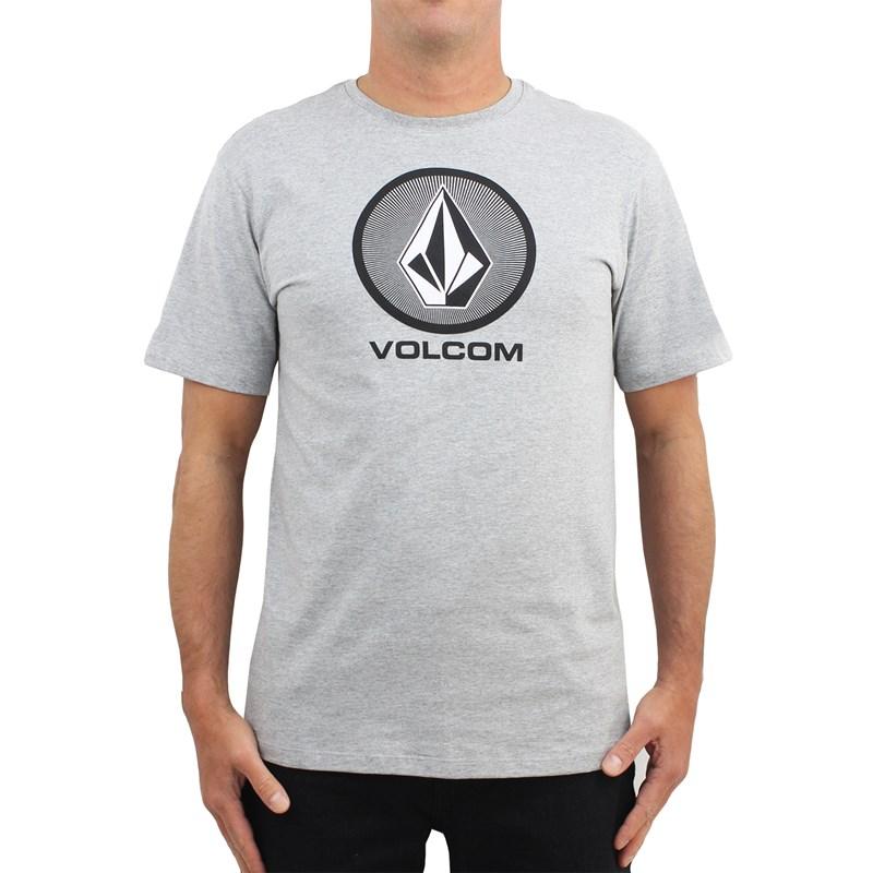 Camiseta Volcom Cryptic Stone Cinza Mescla