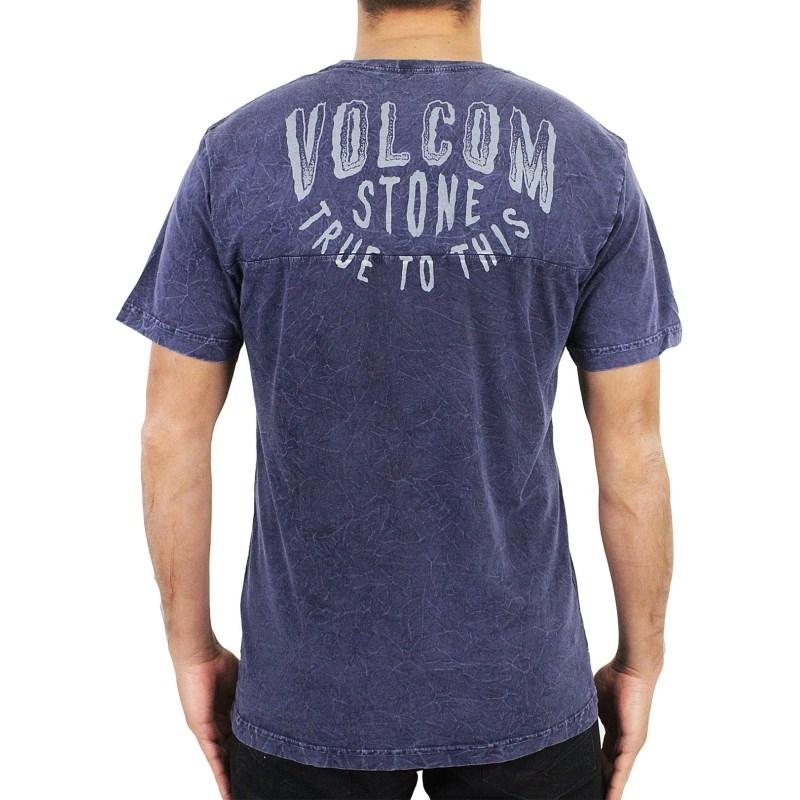 c7f40fad3b666 Camiseta Volcom Especial Apathy Azul Marinho - Surf Alive