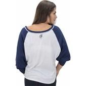 CAMISETA VOLCOM ESPECIAL BOARD WALKING MANGA LONGA FEMININA OFF WHITE BLUE