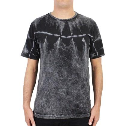 Camiseta Volcom Especial Dirty Wash Tie Dye Black