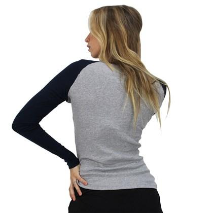 Camiseta Volcom Especial Vol Stone Cinza Mescla Azul