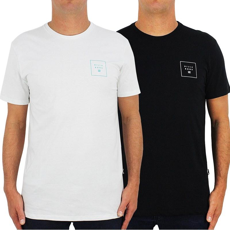 Camisetas Billabong Stacked II 2 Kit com 2 Peças