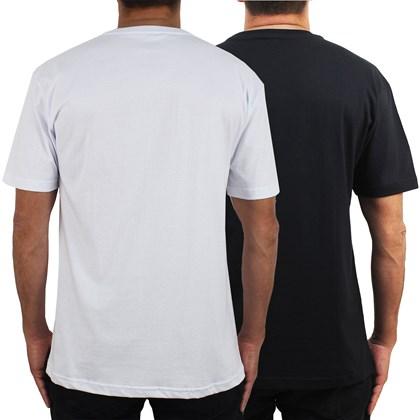 Camisetas Diamond Polo Tee Kit com 2 Peças White Black