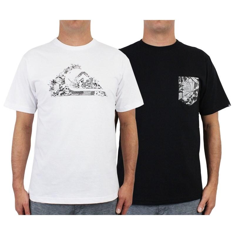 Camisetas Quiksilver Hawaii Basic Kit com 2 Peças - Surf Alive 08391cda0c