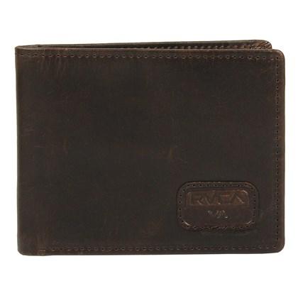 Carteira RVCA Dispatch Leather Dark Brown