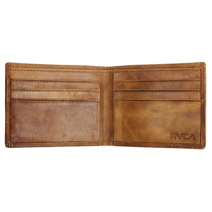 Carteira RVCA Dispatch Leather Light Brown