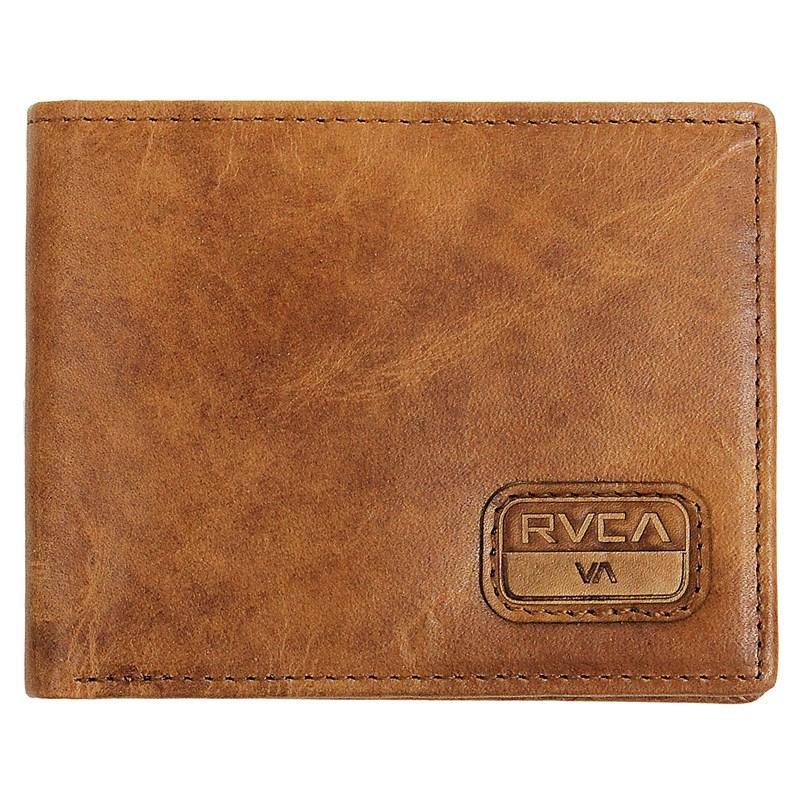Carteira RVCA Dispatch Leather Light Brown