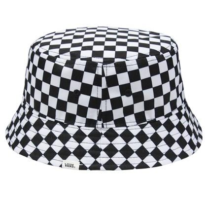 Chapéu Bucket Vans Drizzle Drop Cherckerboard Black White