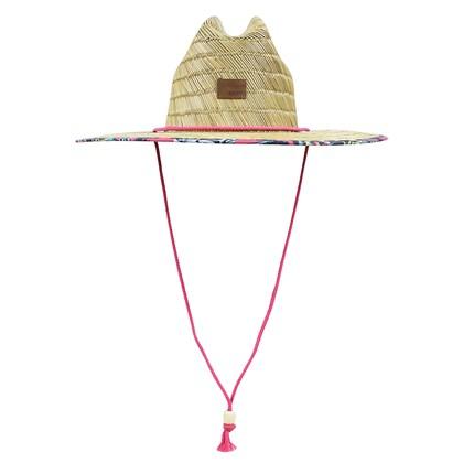 Chapéu de Palha Roxy Tomboy Printed Rouge Red Mahna ... d6da88d16da