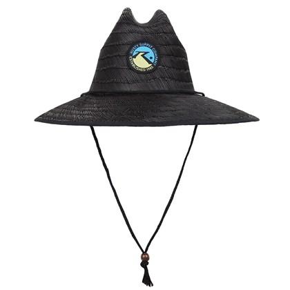 Chapéu de Palha Rusty Lifeguard Black