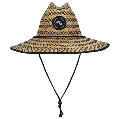 Chapéu de Palha Rusty Lifeguard Preto Cru